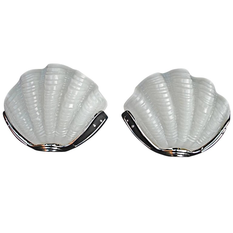 Pair of Art Deco Shell Sconces