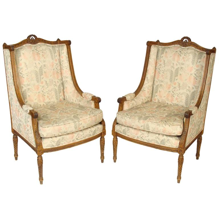 Pair of Louis XVI Bergères 1
