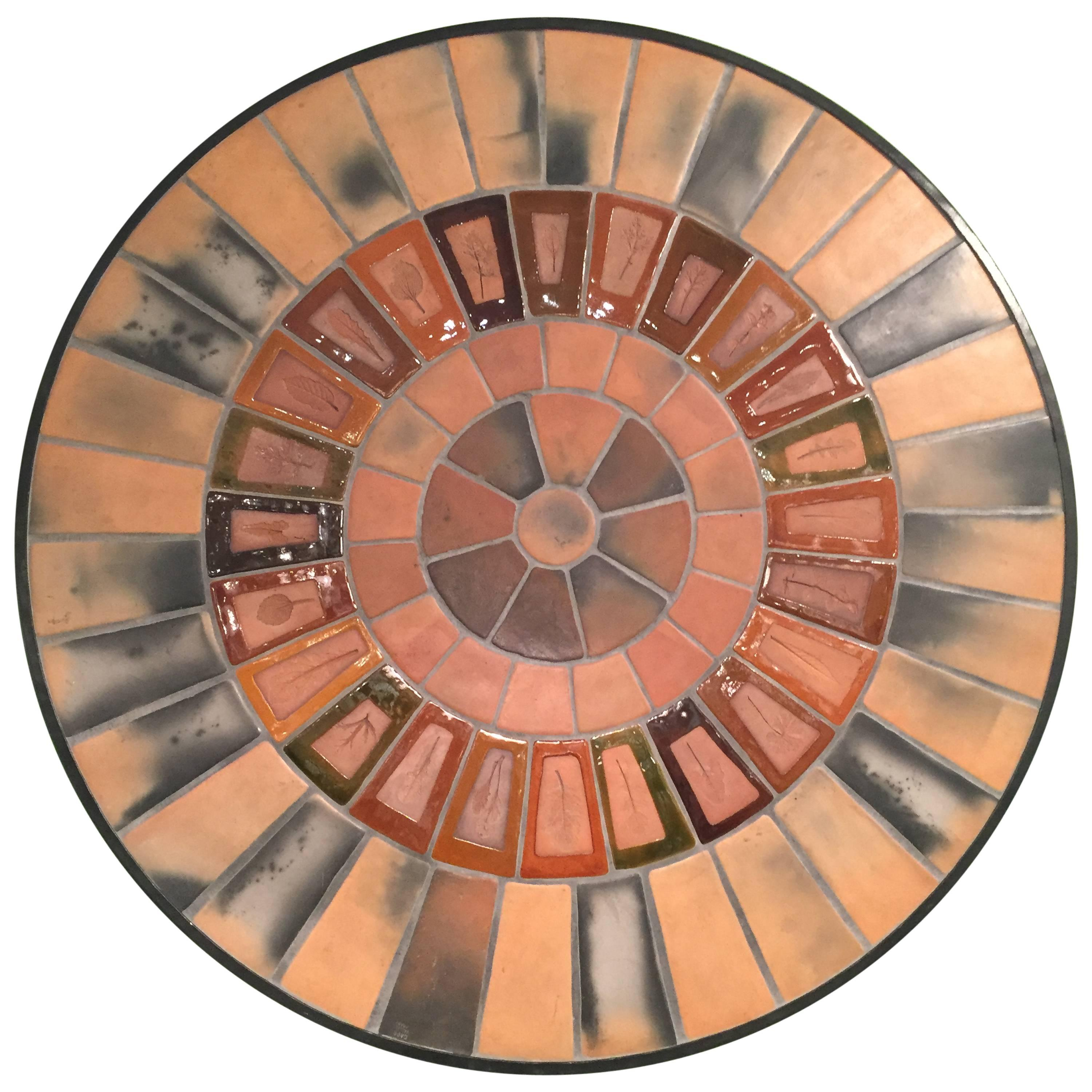 Vintage Ceramic Wall Panel, Table by Roger Capron