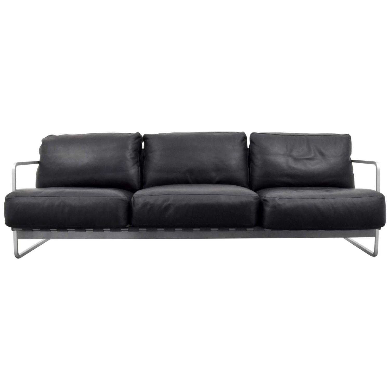 Alfredo W HäBerli and Christophe Marchand Zurigo Leather Sofa For