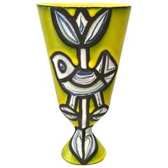 Roger Capron Yellow Bird Vase, 1958