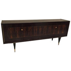 French Art Deco Exotic Macassar Ebony Buffet, circa 1940s