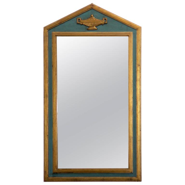 Neoclassical Painted and Giltwood Mirror