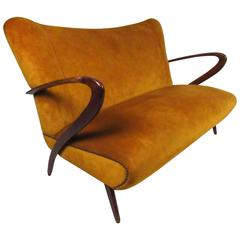 Midcentury Italian Settee in the Manner of Paolo Buffa