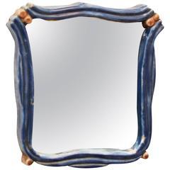 "Art Deco Ceramik Wall Mirror by ""Gmundner Keramik"""