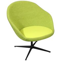 Lounge Chair in Green Hallingdal Wool, Danish Design from the 1960s
