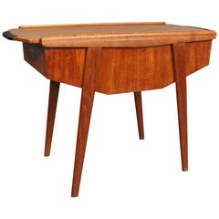Sewing Table in Teak with Sliding Topplate by a Danish Manufacturer, circa 1960s