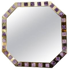 Mirror with Amethyst Designed by Régis Royant