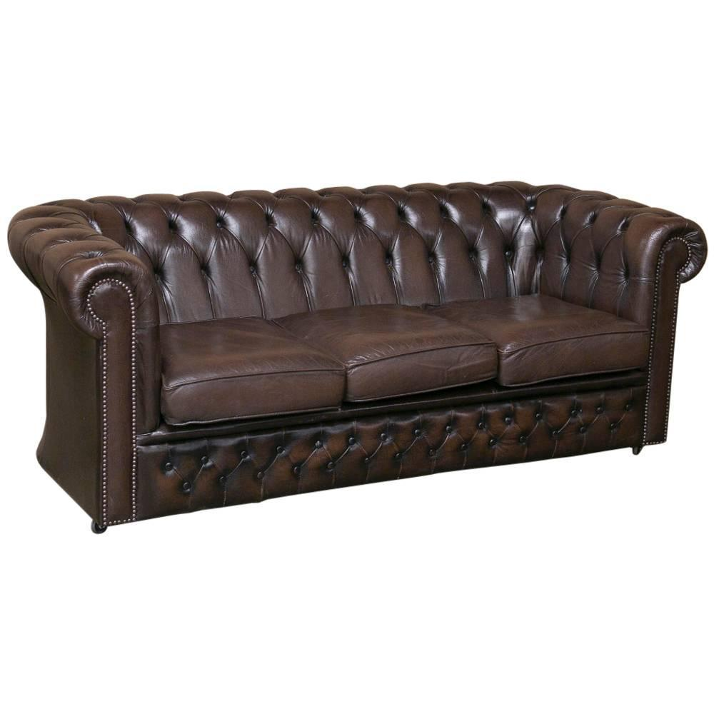Leather Chesterfield Sofa, Loveseat and Pair of Armchairs at 1stdibs