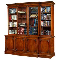 George III Mahogany Breakfront Library Bookcase
