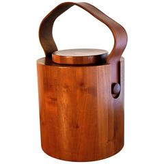 Big 1960s Teak Wood Ice Bucket by Jens H. Quistgaard