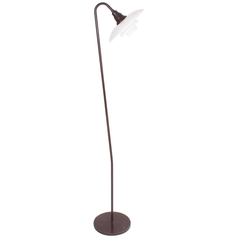 Poul Henningsen 'Snowdrop' Ph 3/2 Standard Floor Lamp, 1931 For Sale