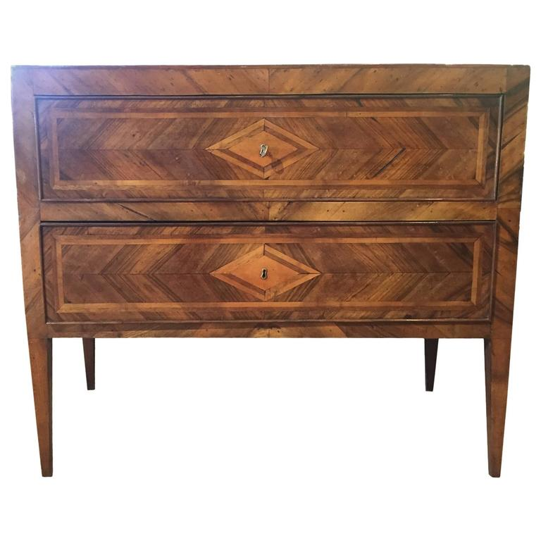 19th Century Inlaid Wood Chest At 1stdibs