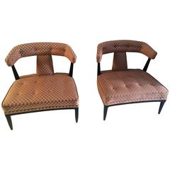 Pair of Billy Haines High Style Slipper Chairs