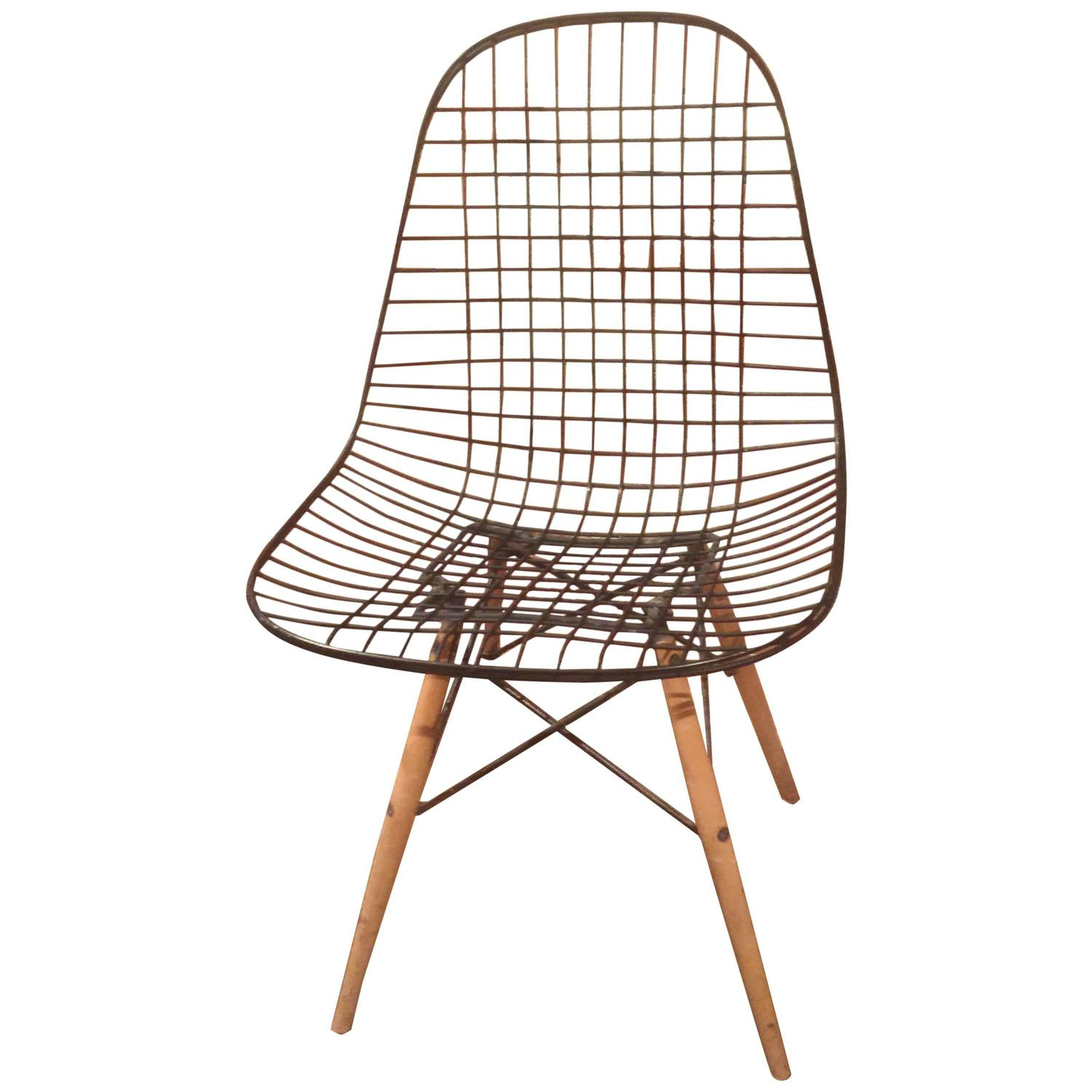 First Edition Eames for Herman Miller Original DKW Side Chair at