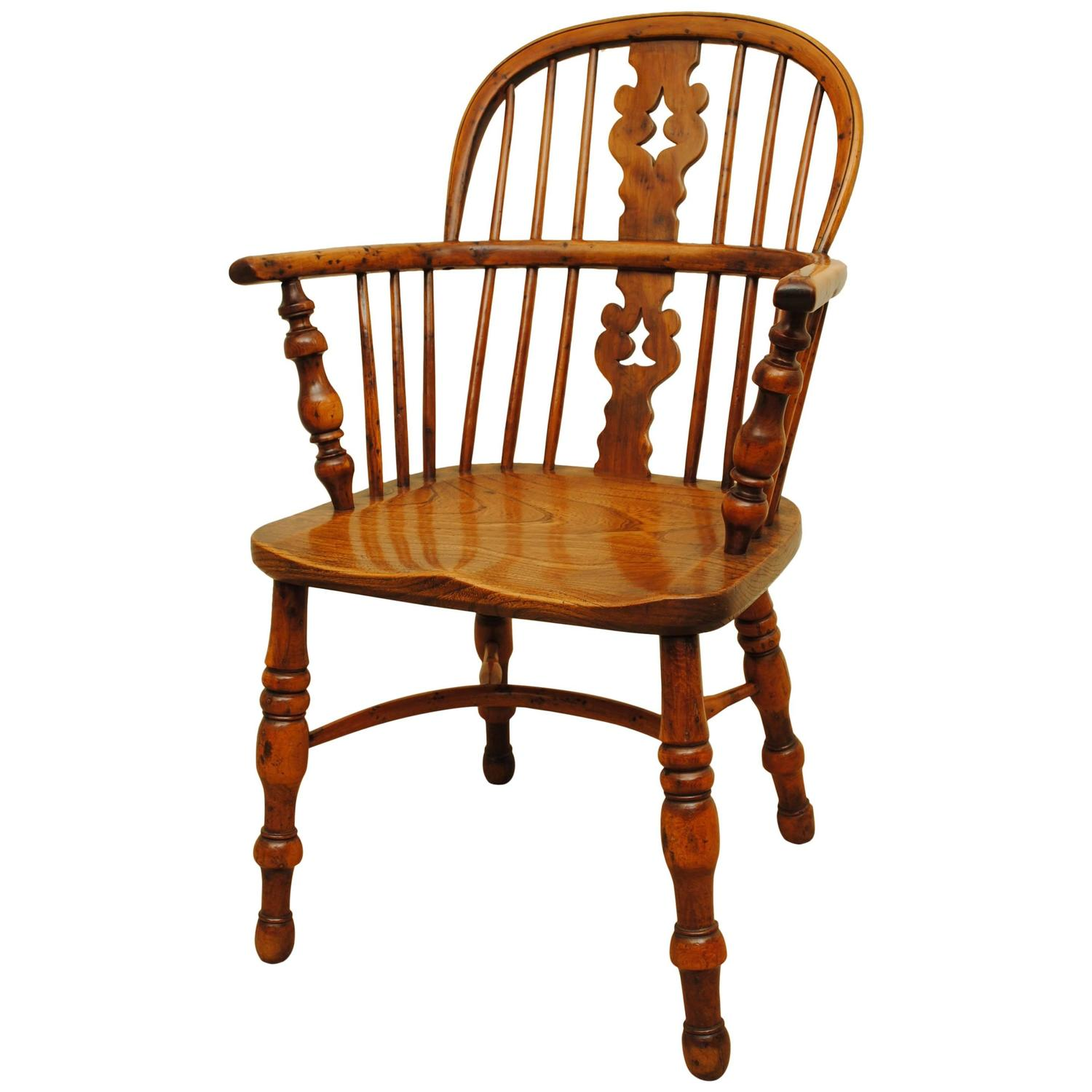 Antique Yew Wood Windsor Chair At 1stdibs