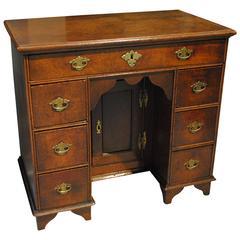 Queen Anne Oak Kneehole Desk