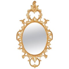 Oval Mirror in the George III Chippendale manner