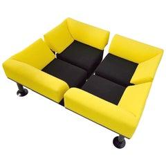 Post Modern Yellow and Black Artifort Sofa