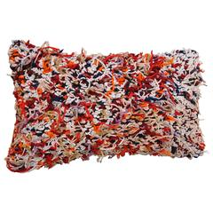 Custom Pillow from a Moroccan Hand Loomed Wool Berber Rug