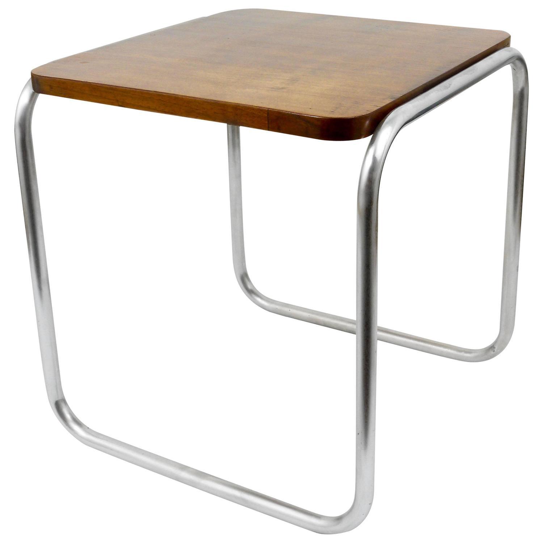 German Bauhaus Tubular Steel Side Table Or Stool 1930s For Sale At 1stdibs