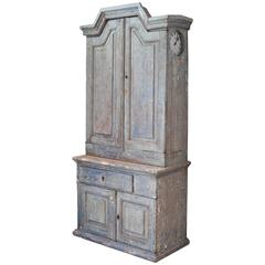 18th Century Gustavian Cabinet with Built in Clock, Sweden