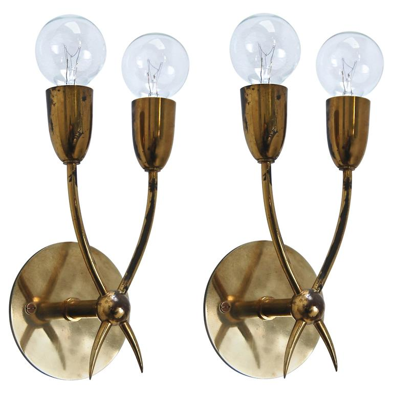 Petite Italian Sconces in the style of Guglielmo Ulrich