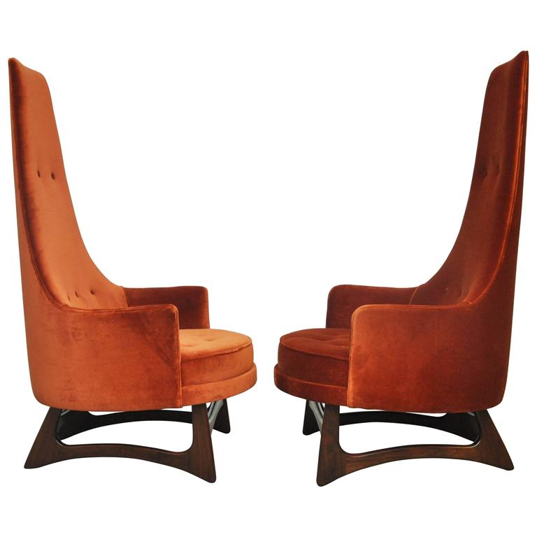 Adrian Pearsall High Back Lounge Chairs For Sale