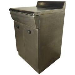 Unusual Midcentury Metal Cabinet