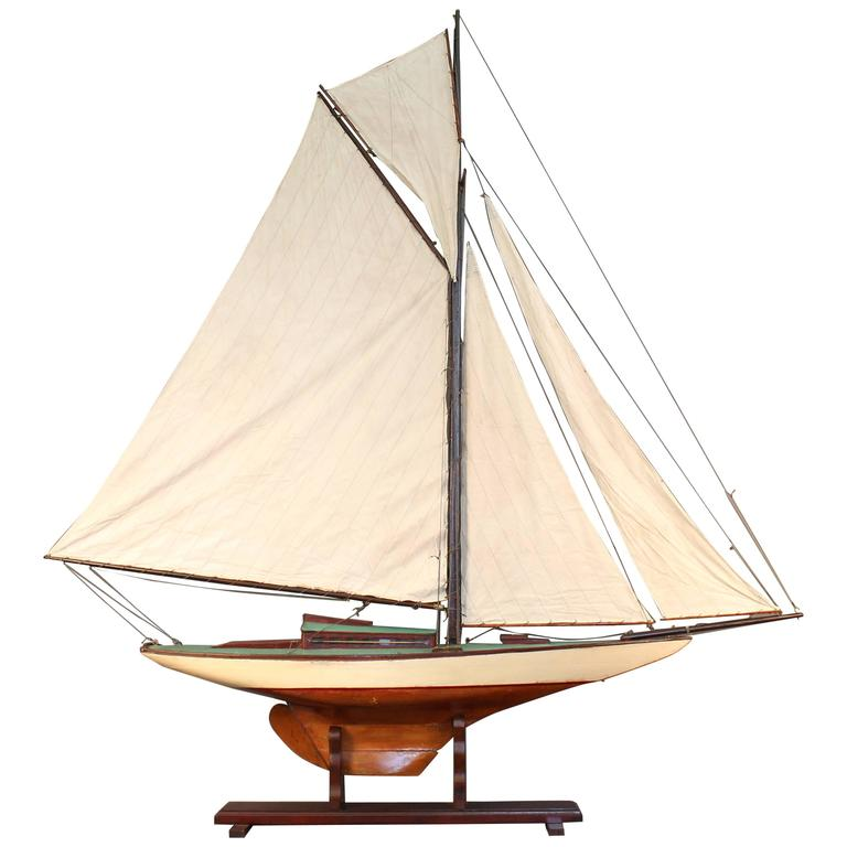 vintage pond yacht for sale at 1stdibs