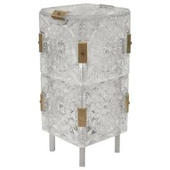 Midcentury Pressed Glass Table Lamp