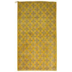Vintage Yellow Anatolian Rug