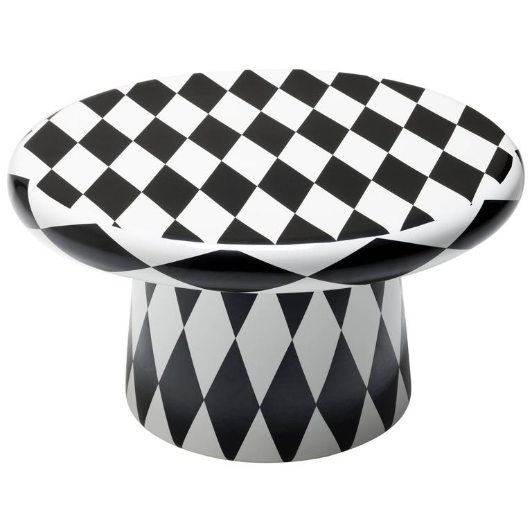 T-Table Maxi Special Edition White Black Diamond Designed by Jaime Hayon