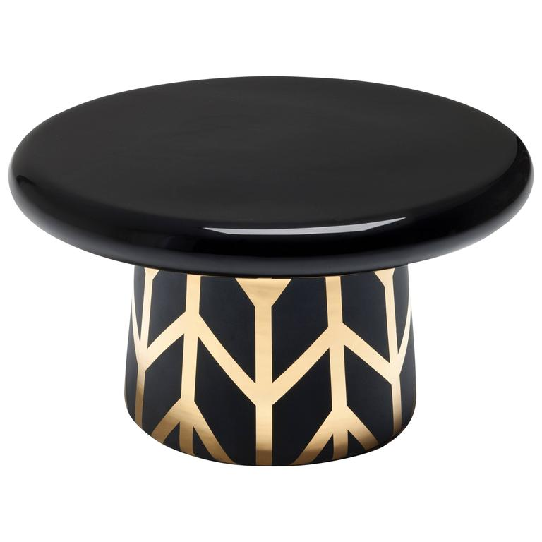 T-Table Maxi Special Edition Black Gold Designed by Jaime Hayon For Sale