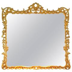 Late 18th Century English Giltwood Overmantel Mirror
