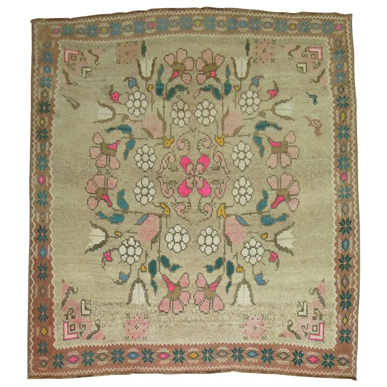 Vintage Turkish Kars Rug Influenced by Bessarabian Style Kilims