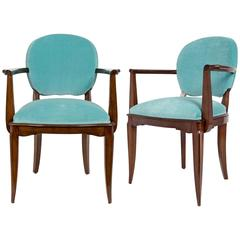 French Art Deco Pair of Armchairs by Dominique
