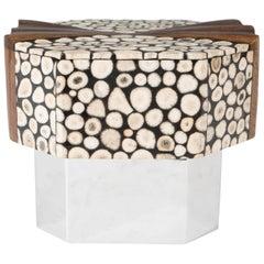 Gene Jonson & Robert Marcius Dresser-Top Box with Bone and Exotic Wood Lid