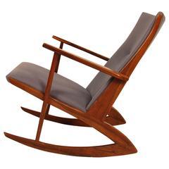 Rare Rosewood Holger George Jensen Rocking Chair