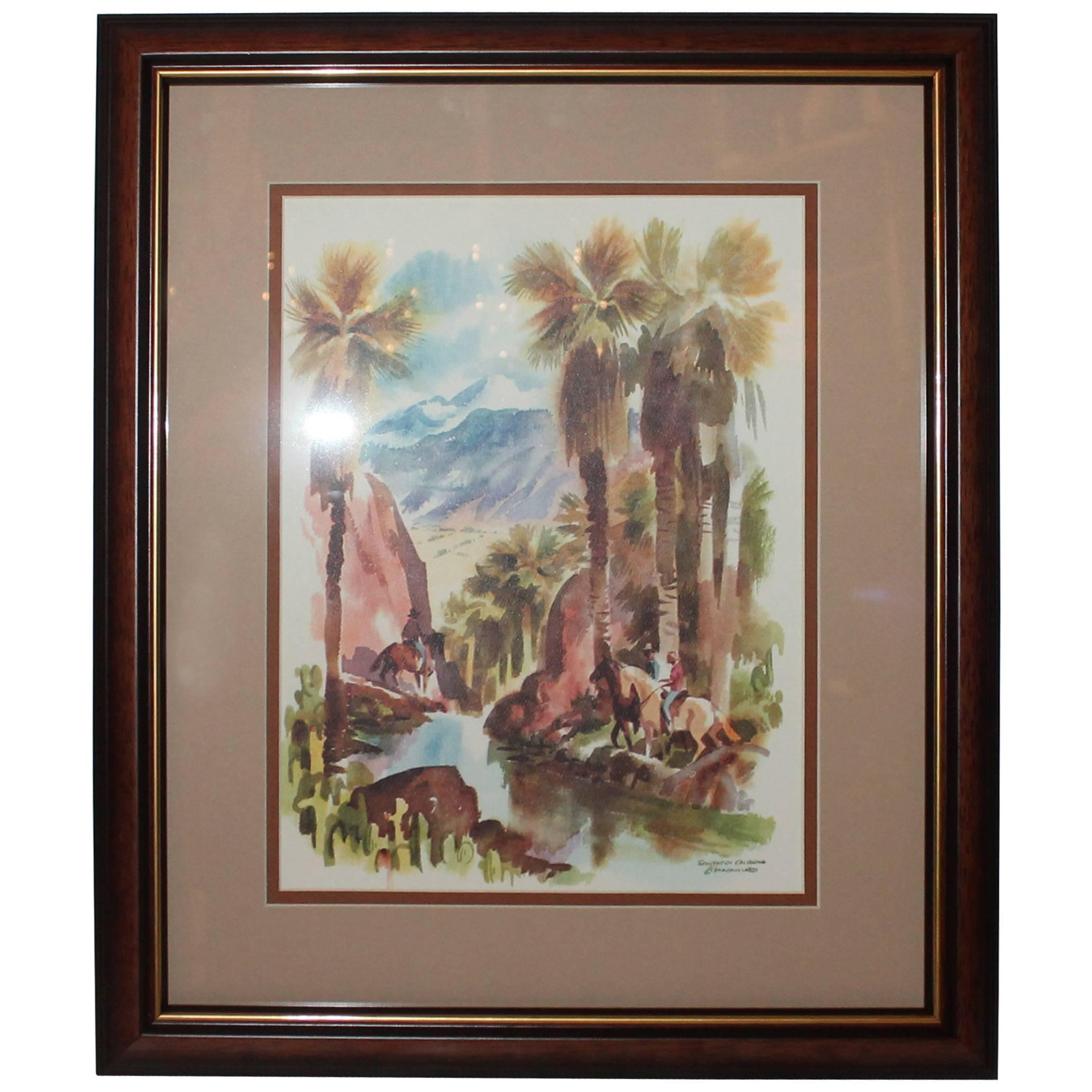 Signed C. Macourlard San Francisco Watercolor