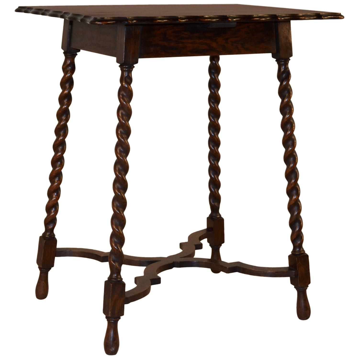 English Oak Scalloped Side Table Circa 1900 At 1stdibs. Full resolution  photograph, nominally Width 1500 Height 1500 pixels, photograph with #301C13.
