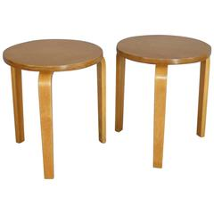Pair of Alvar Aalto Stack Stools Side Tables