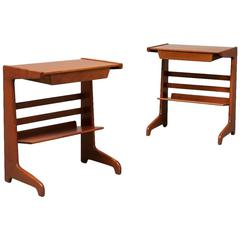 "Rare Pair of Bedside Tables ""Futura"" by David Rosen"