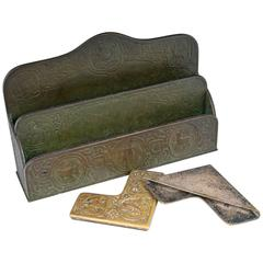 Tiffany Studios Bronze Letter Holder