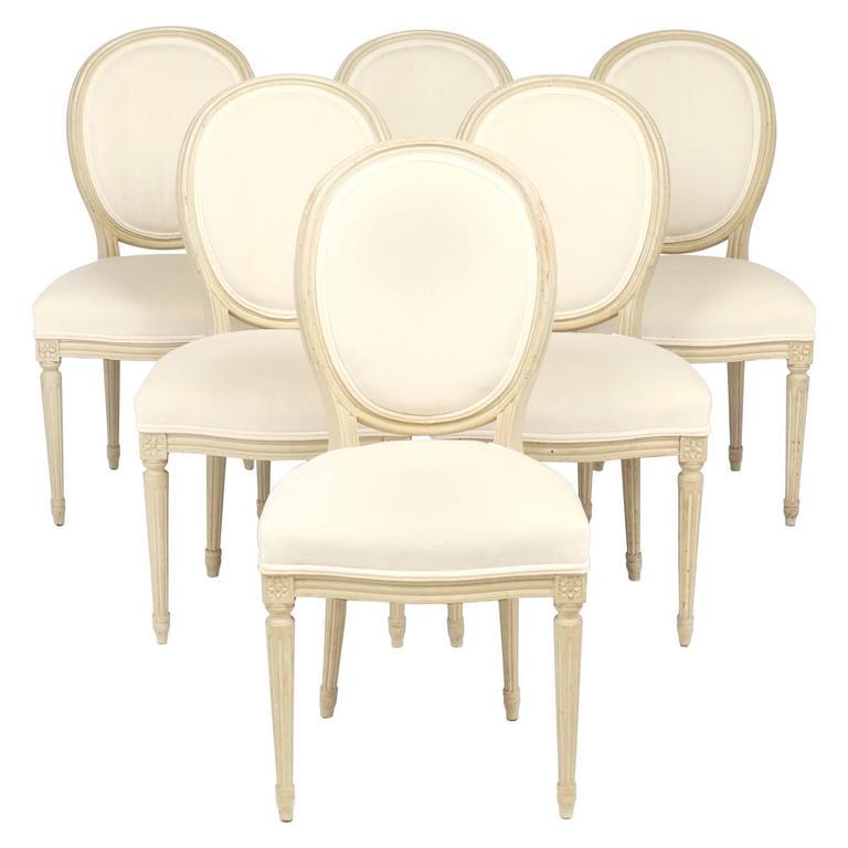 Louis XVI Set of Six Medallion Back Side Chairs For Sale  sc 1 st  1stDibs & Louis XVI Set of Six Medallion Back Side Chairs at 1stdibs