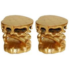 Pair of Truffle Design Side Tables