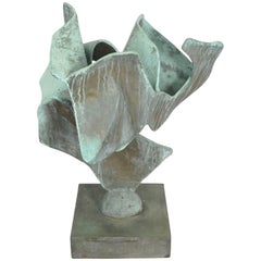Organic Free-Form Abstract Bronze Sculpture