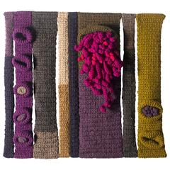 Jane Knight Sculptural Fiber Art Wall Hanging