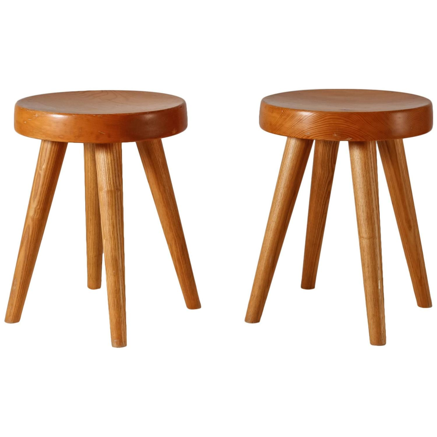 4 Legged Stool ~ Charlotte perriand pair of four legged stools france