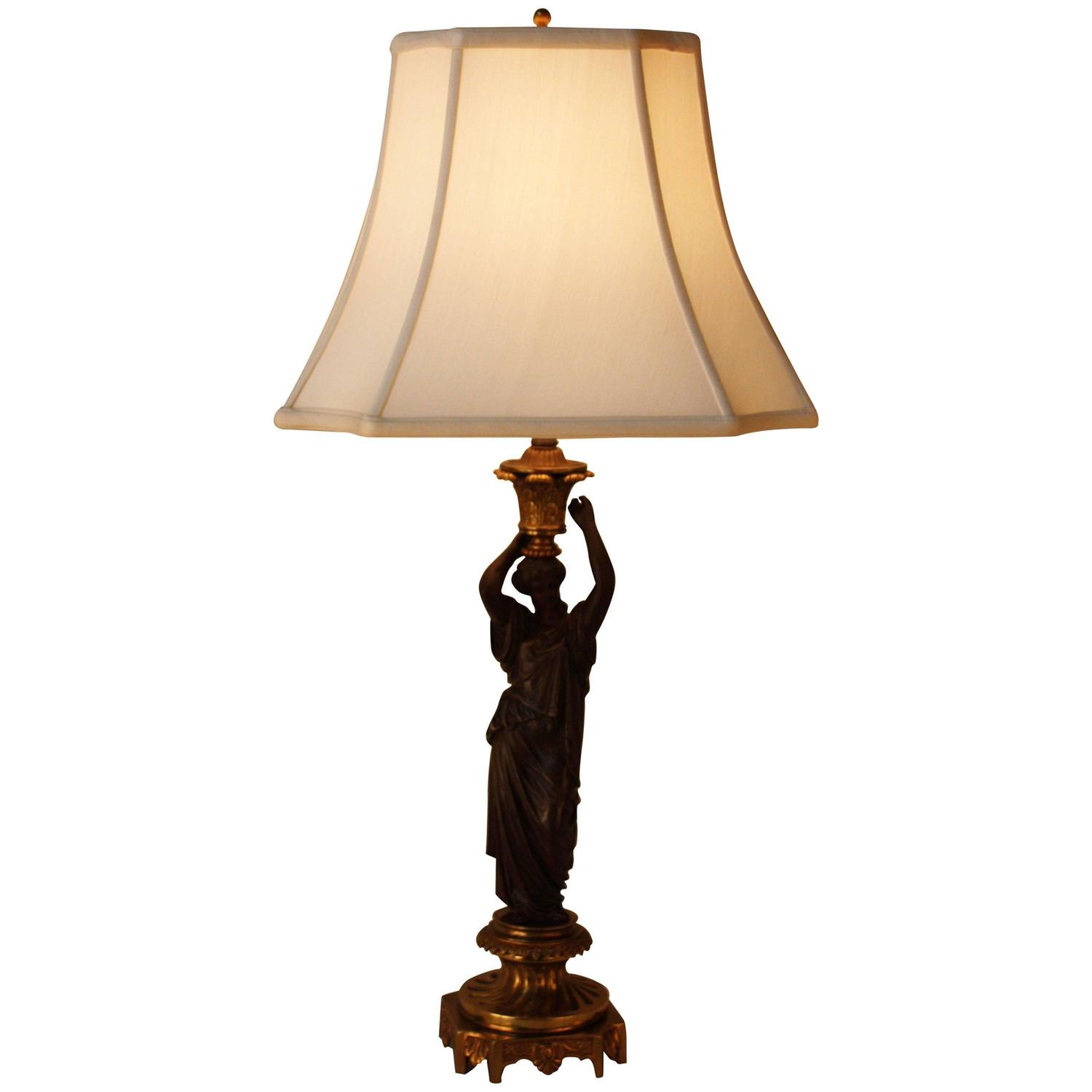 Bronze Sculpture Table Lamp For Sale At 1stdibs